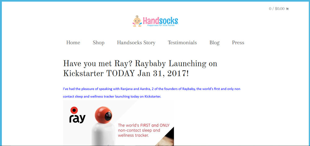 Have you met Ray? Raybaby Launching on Kickstarter TODAY Jan 31, 2017!