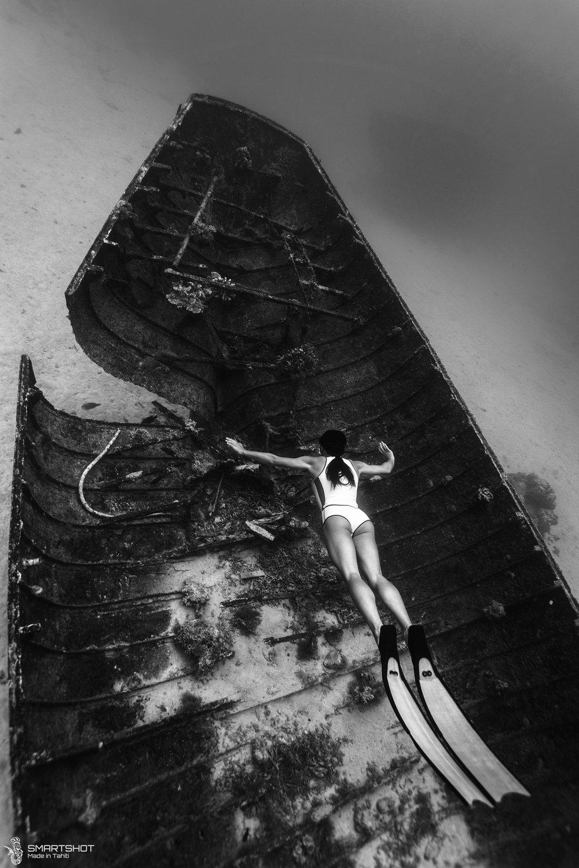 Julia Wheeler Freediver, Freediving, Tahiti