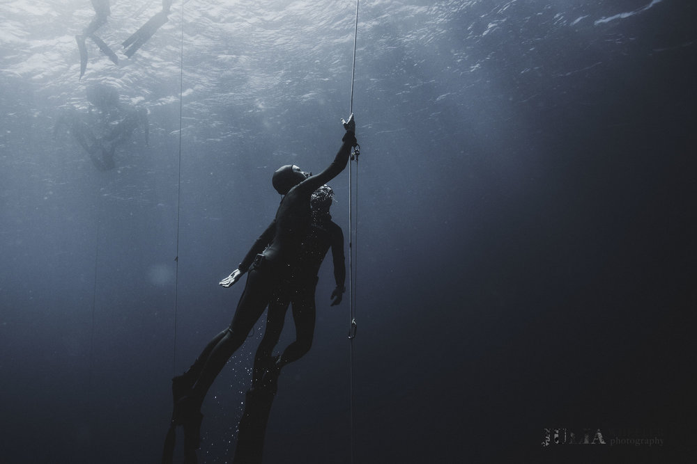 Amber Bourke, Australia's Champion Freediver. Shot in Bali by Julia Wheeler during the 2016 Australian Freediving Championships