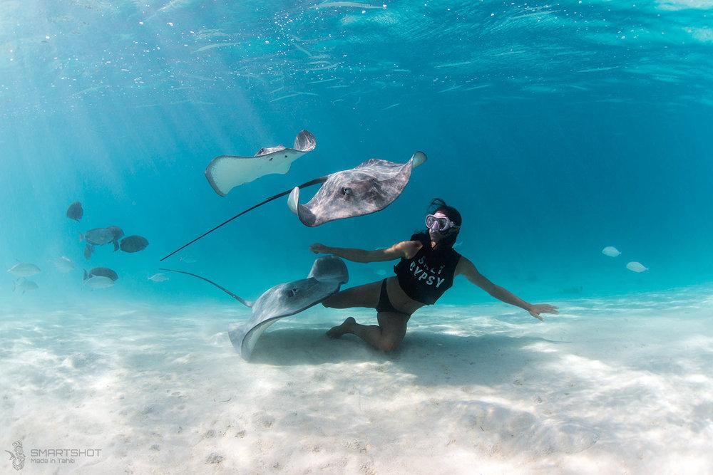 julia wheeler, christian coloumbe, tahiti, freediver, underwater photography, dream big, photographer