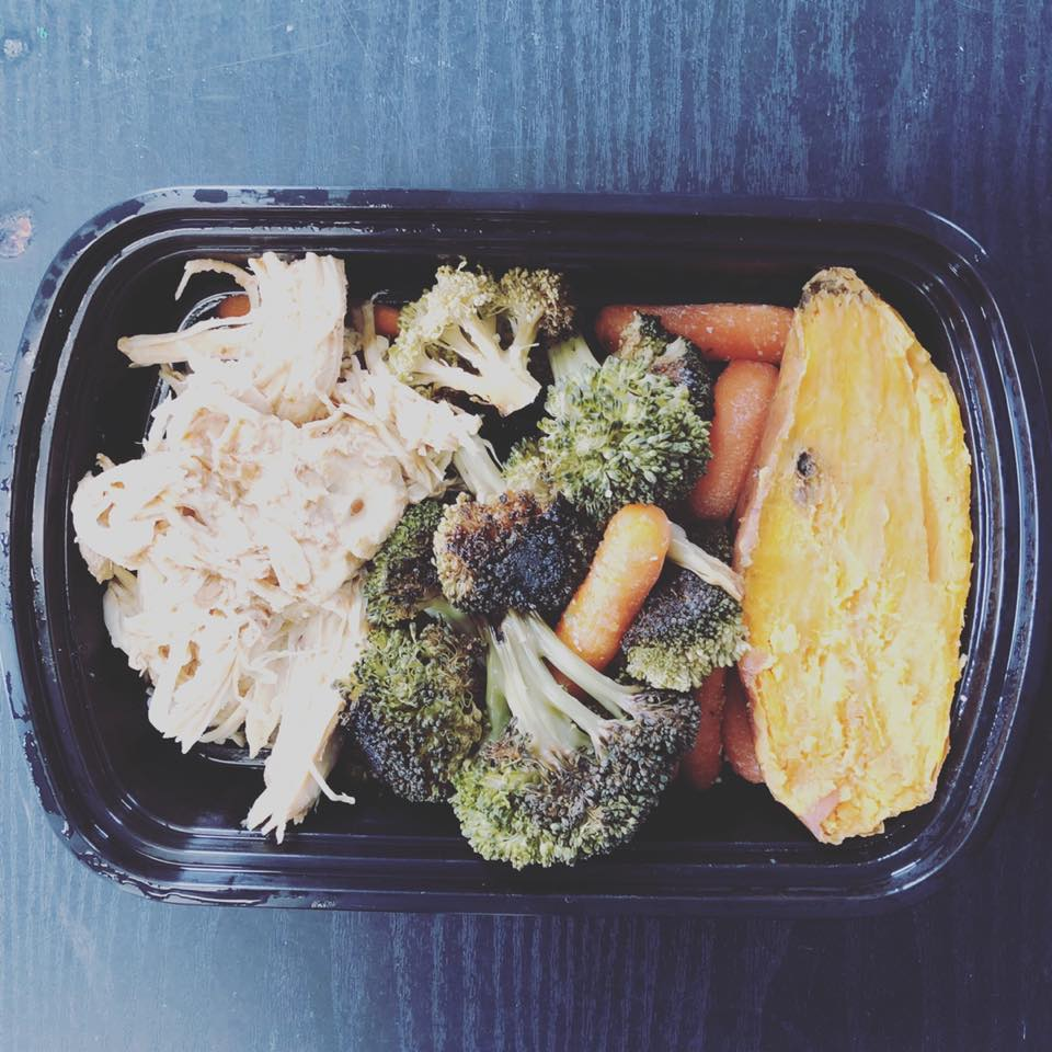 What's your perfect plate look like?  🍗1/4 lean meat 🥦 1/2 dark green/leafy veggie 🍠 1/4 starchy veggie/complex carb