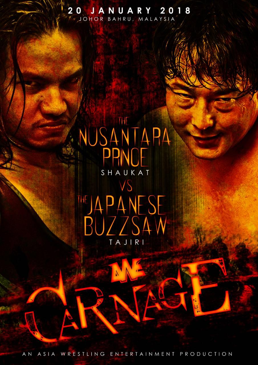 AWE second show AWE : Carnage, to take place in Johor Bahru, Malaysia