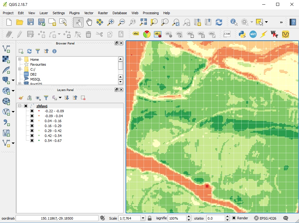Export from same paddock at top of this page loaded into popular GIS software QGIS