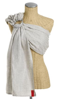 For our new baby, I want to try out a ring sling style carrier.  I purchased a beautiful second-hand  Sukura Bloom  ring sling from a mom in Portland that I found on a baby wearing community Facebook group.