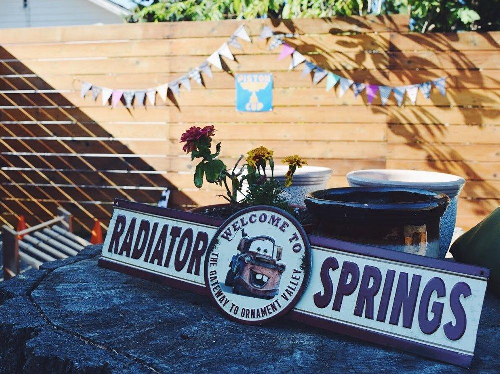 Radiator Springs Sign