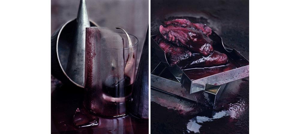 Blood  Diptych N°2, 2000/2014 Tirages gélatino argentique, 2 panneaux 144 x 104 cm chacun | Gelatin silver prints, 2 panels 56,69 x 40,94 inches each  2/4
