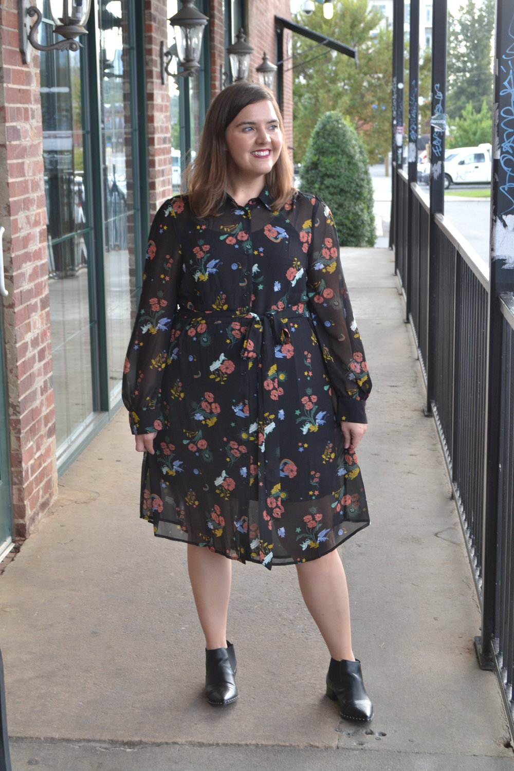 This ModCloth dress is inspired by the Wizard of Oz and has cool prints of witch hats, flying monkeys, poppies, Toto, and rainbows. Because the dress is a classic shirt dress, it's still perfect for work even with the out-there print.