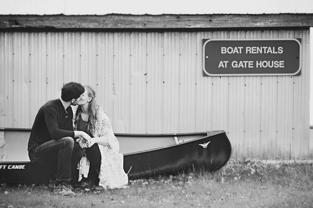 Romantic Country Engagement Photos with Horses and a Canoe!