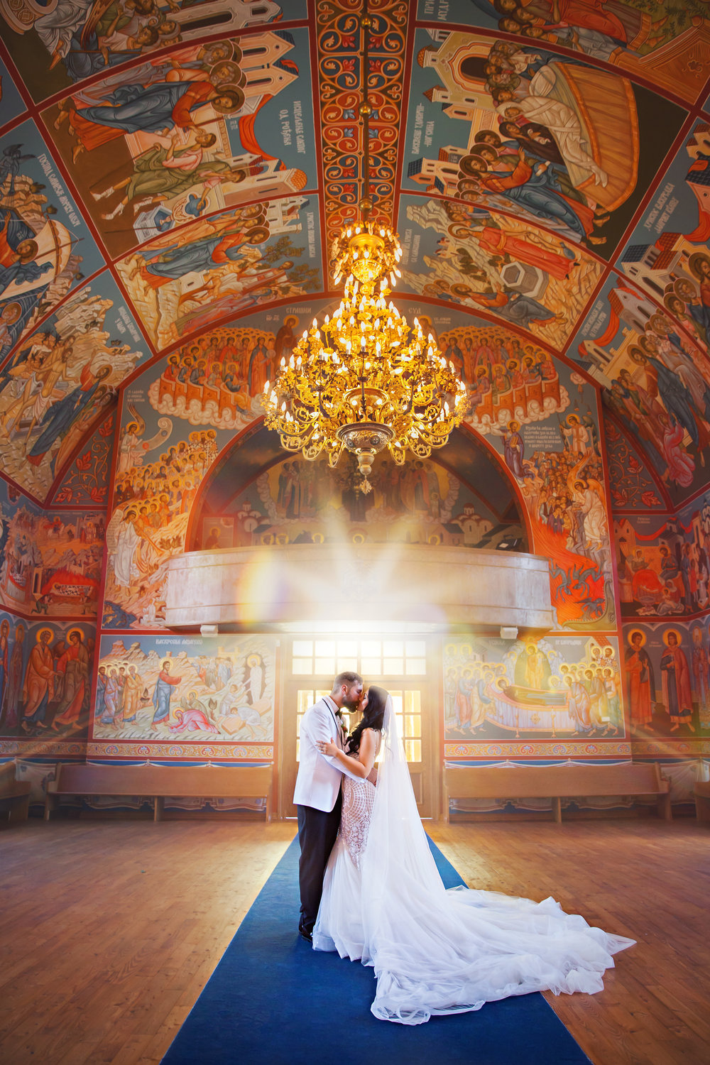 No big deal. Just a gorgeous couple in a gorgeous Serbian Orthodox Cathedral!