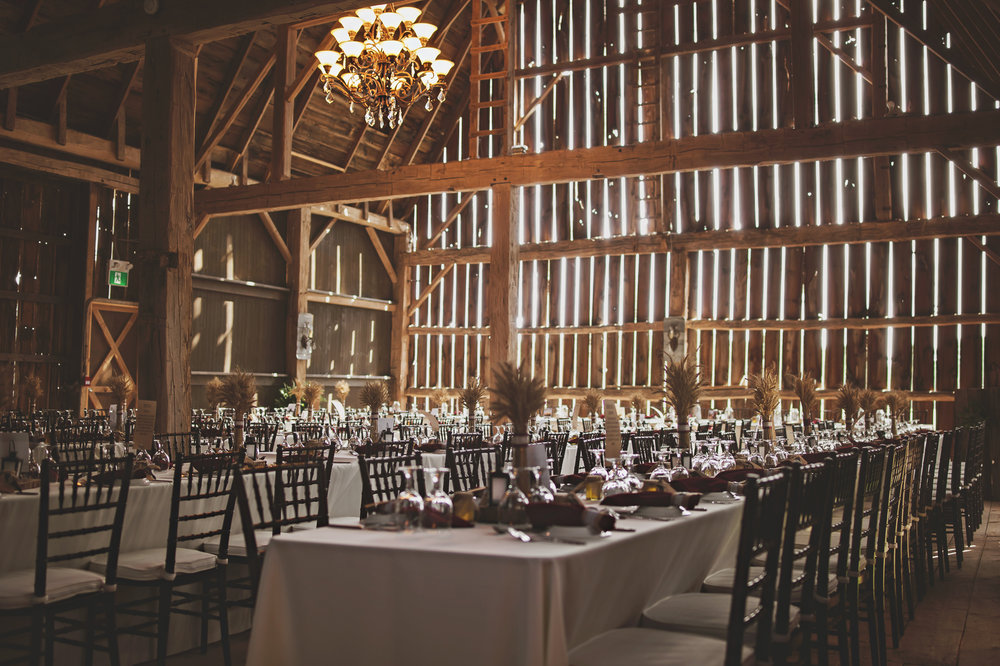 Willow Creek Barn Events in Ailsa Craig - that late summer sun spilling in makes us swoon!