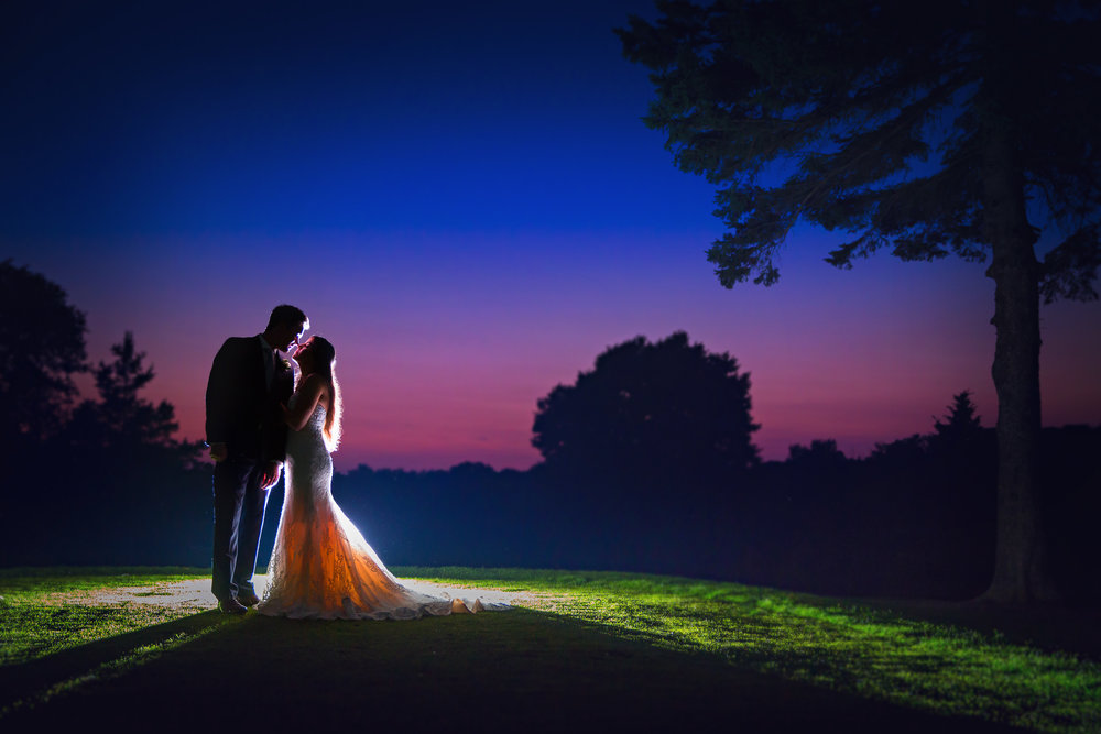The most beautiful 'after-sunset' photo on the stunning grounds of St. Mary's Golf & Country Club. The perfect way to end the perfect wedding day!