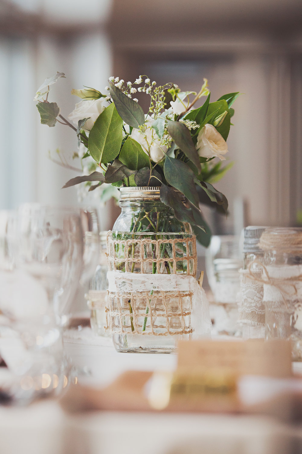 Beautifully simple centerpieces!