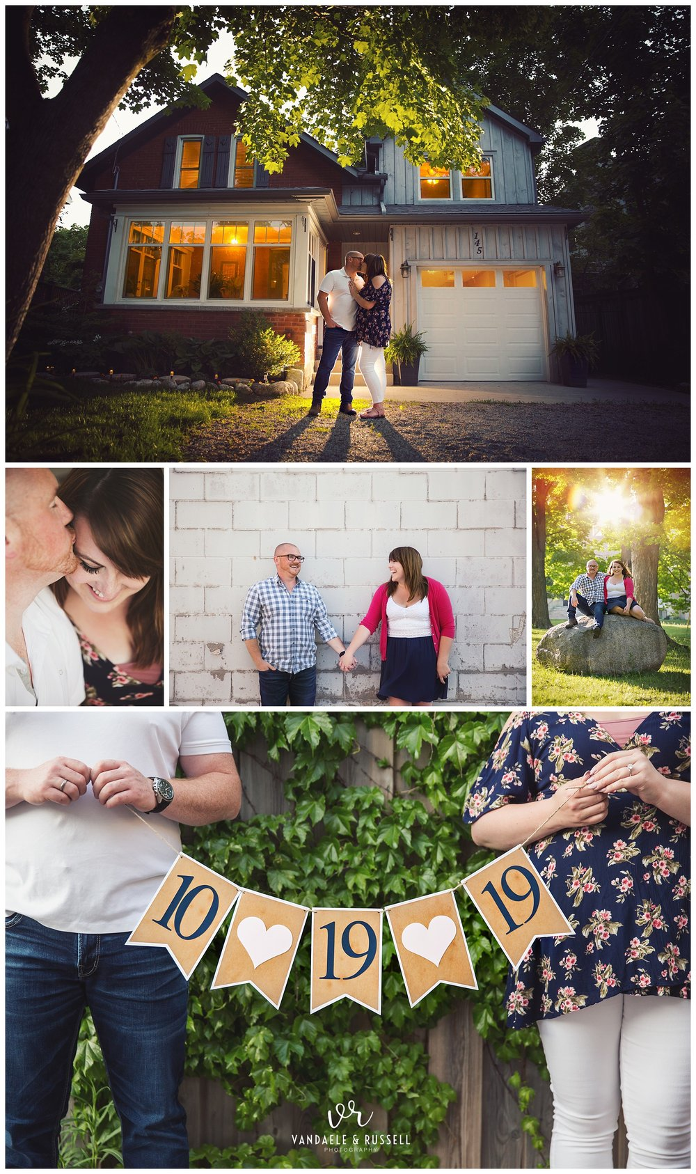 Fergus, Ontario engagement photos by VanDaele & Russell