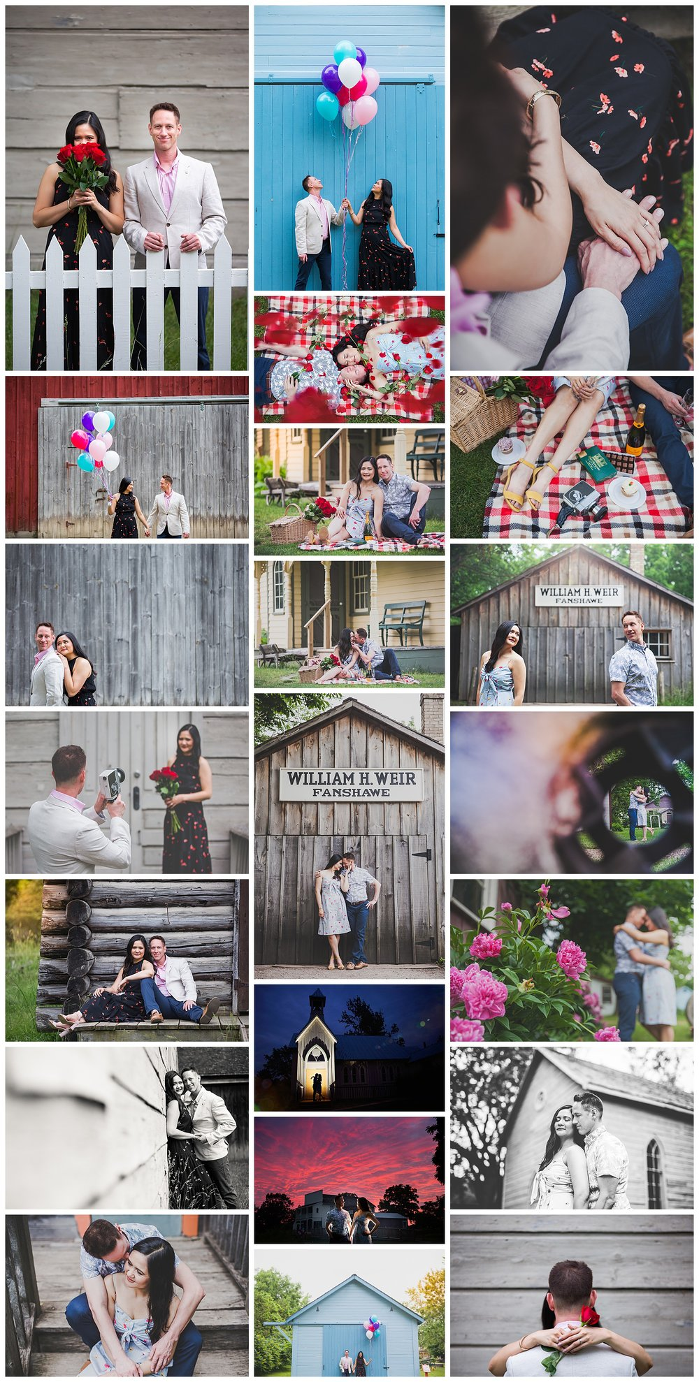 Fanshawe Pioneer Village, London, Ontario engagement photos by VanDaele & Russell