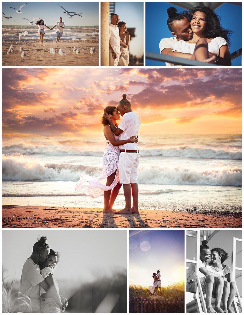 Grand Bend Beach, Ontario beach engagement photos by VanDaele & Russell
