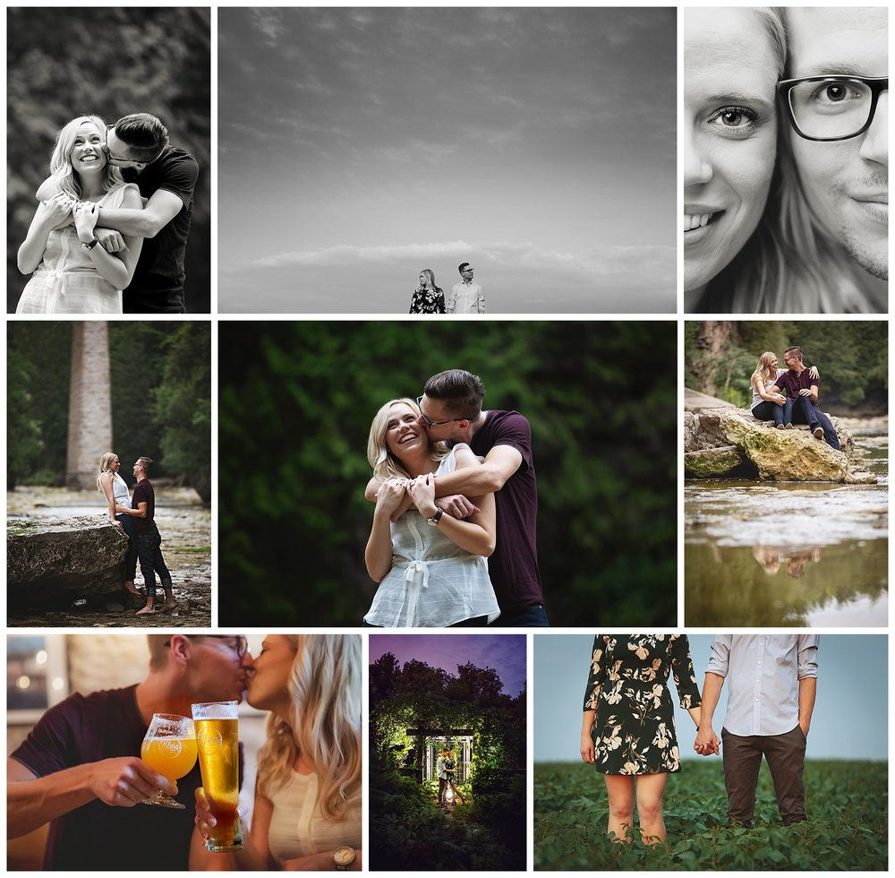 Elora, Ontario engagement photography by VanDaele & Russell