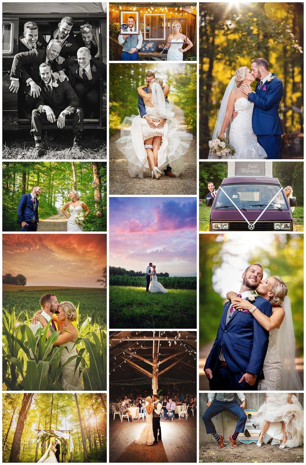 Love's Sugar Bush, Holstein Ontario wedding photos by VanDaele & Russell
