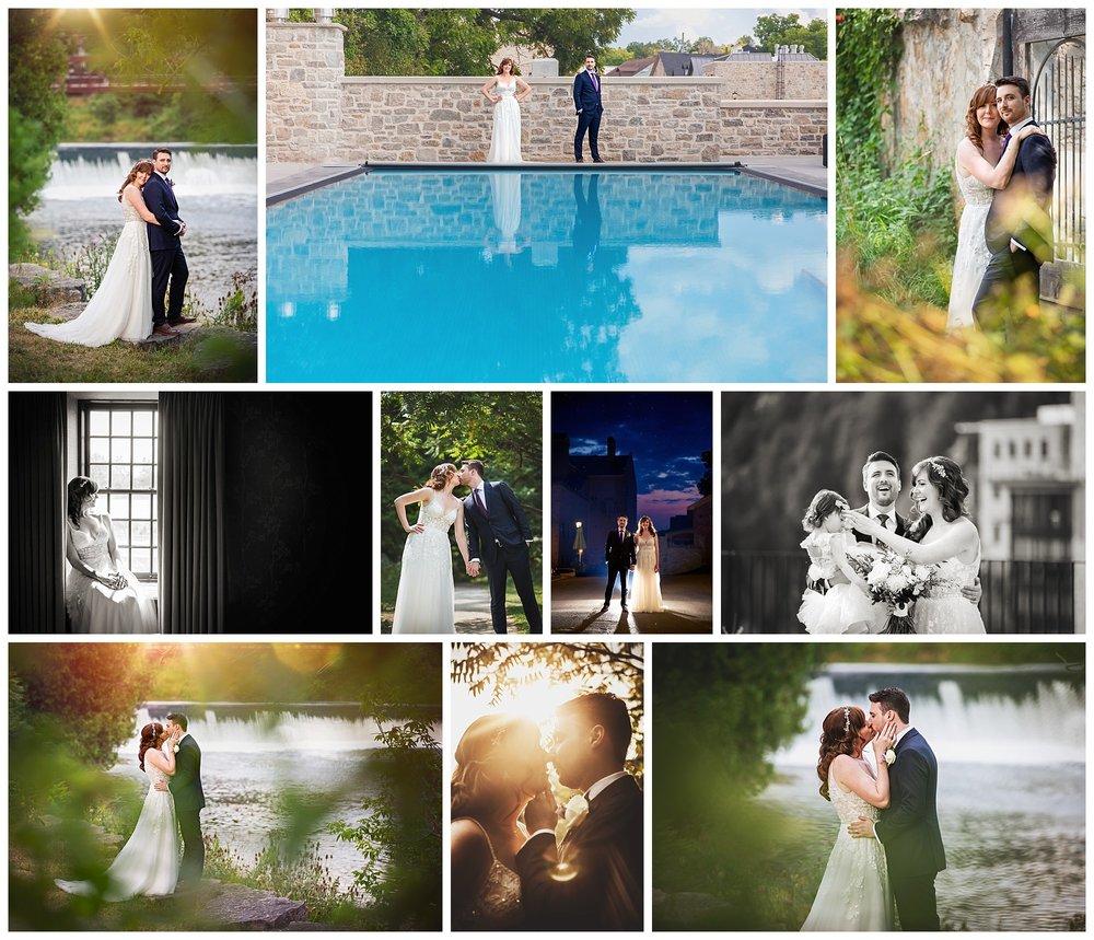 Elora Mill & Spa, Elora, Ontario wedding photos by VanDaele & Russell