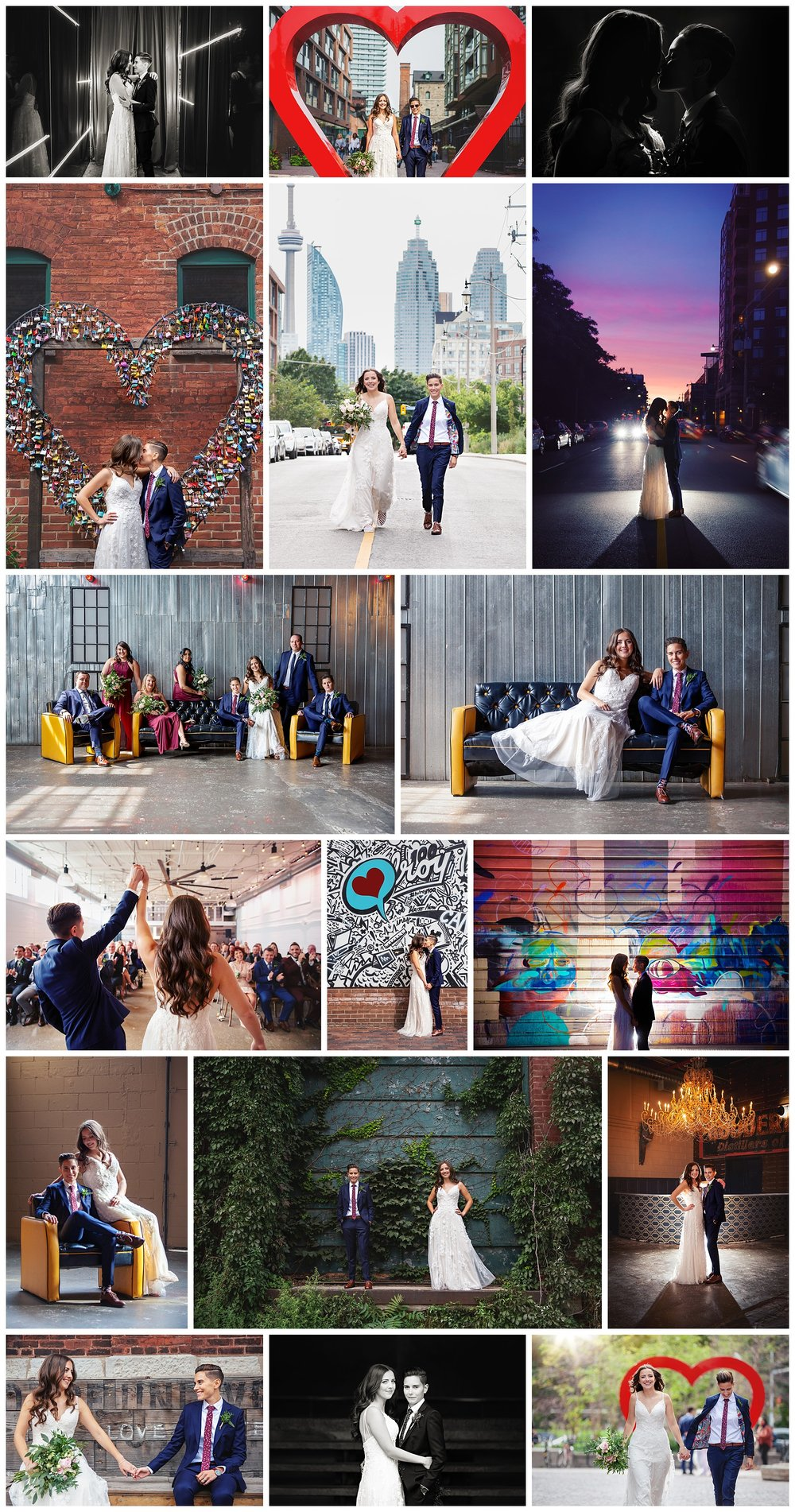 Airship 37 & Distillery District, Toronto, Ontario wedding photography by VanDaele & Russell