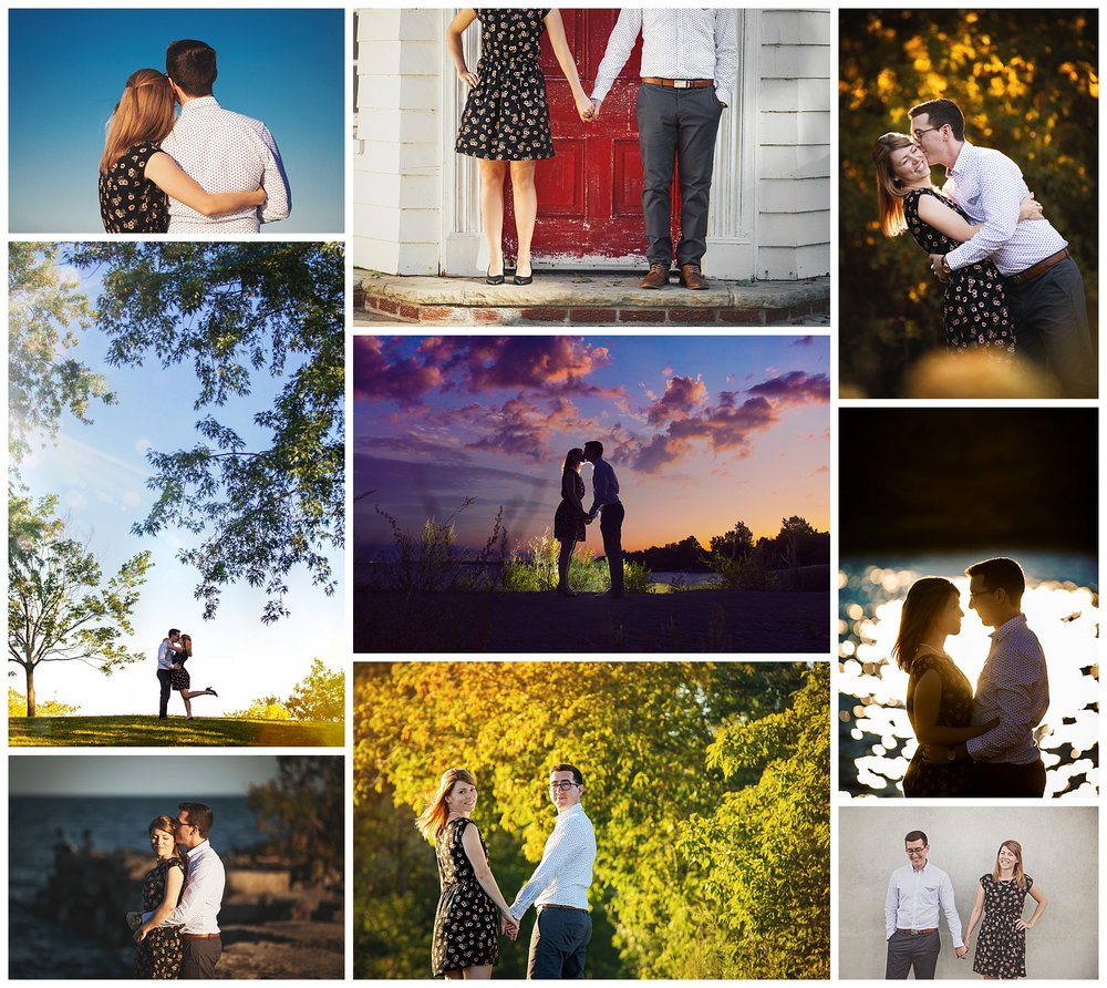 Port Credit, Ontario engagement photos by VanDaele & Russell