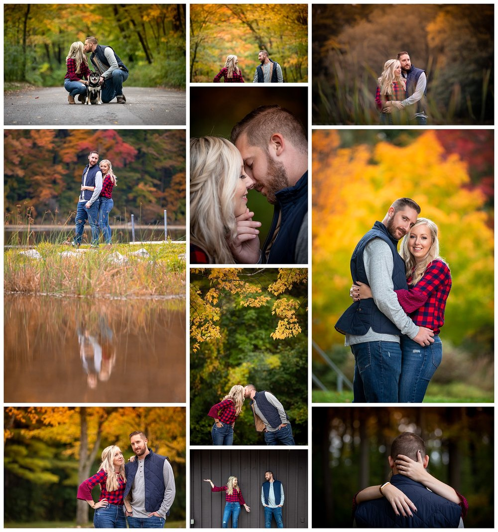 Pinehurst Lake Conservation Area, Ayr, Ontario engagement photos by VanDaele & Russell