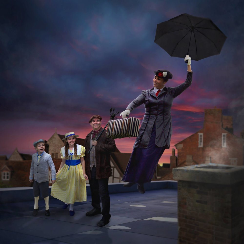 And finally (for real, this time) – a Mary Poppins inspired family photo for our dear friends in Newfoundland!