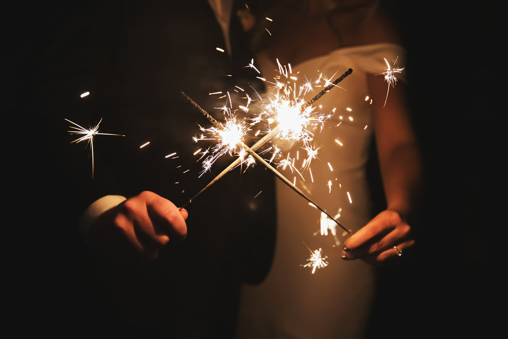 It's not New Year's Eve without sparklers!