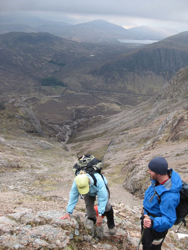 - Being Guided up the Buchaille