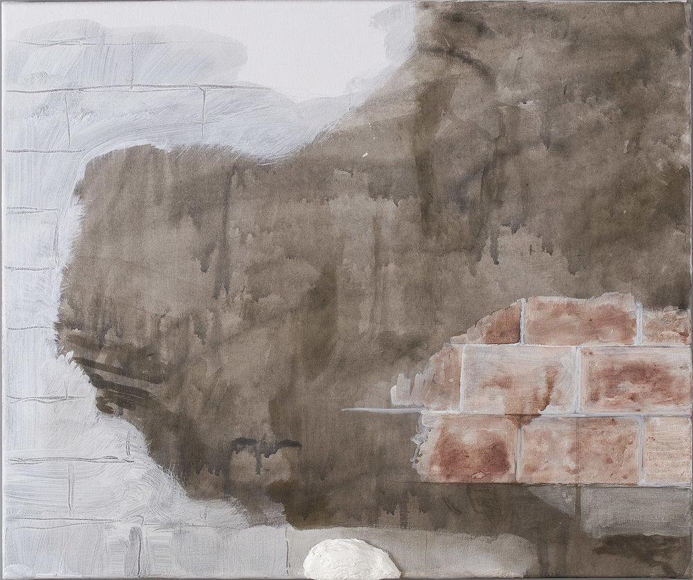 o.T. | 2009 | Acryl, Tusche und Öl auf Leinwand | 50 x 60 cm