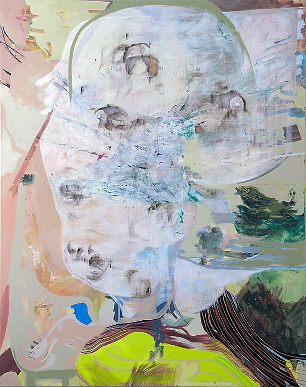 The Multiple Eyed | 2010 | Acryl und Öl auf Leinwand | 240 x 190 cm