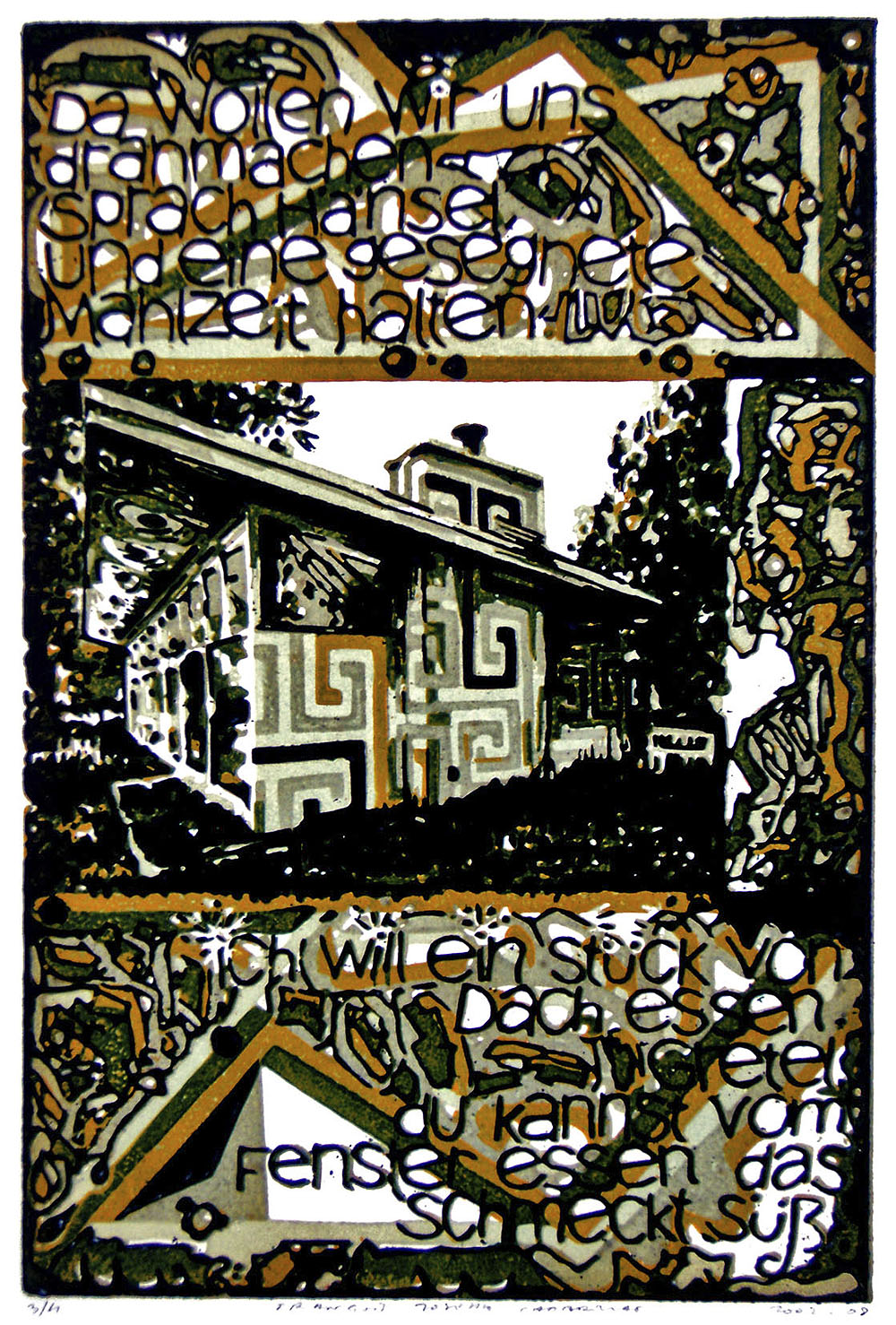 o. T. (Hänsel und Gretel) | 2002 | Farbkartondruck | 33 x 22 cm
