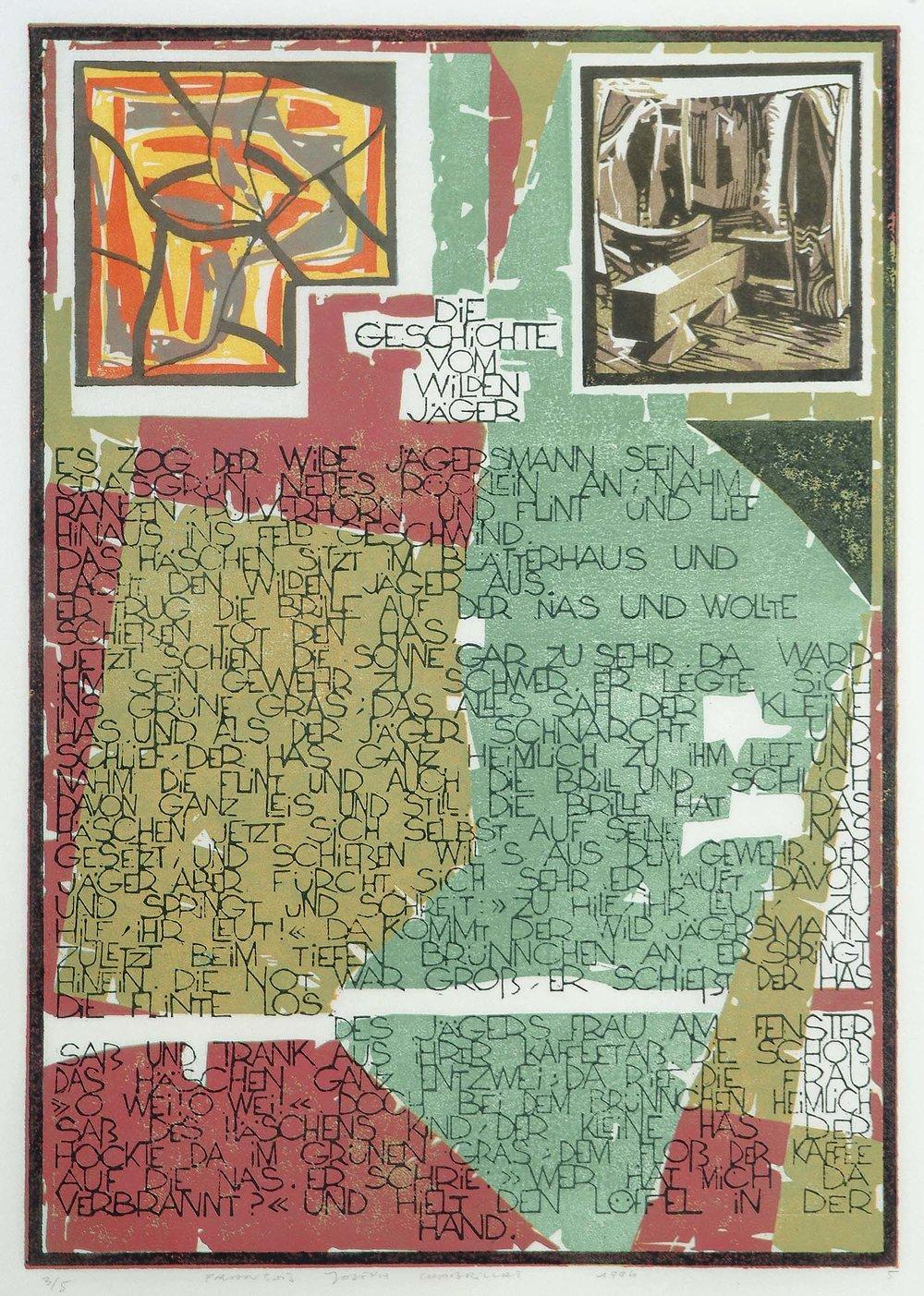 Der Struwwelpeter | 1994 | Farbkartondruck auf Misumi-Japan-Papier | 50 x 35 cm