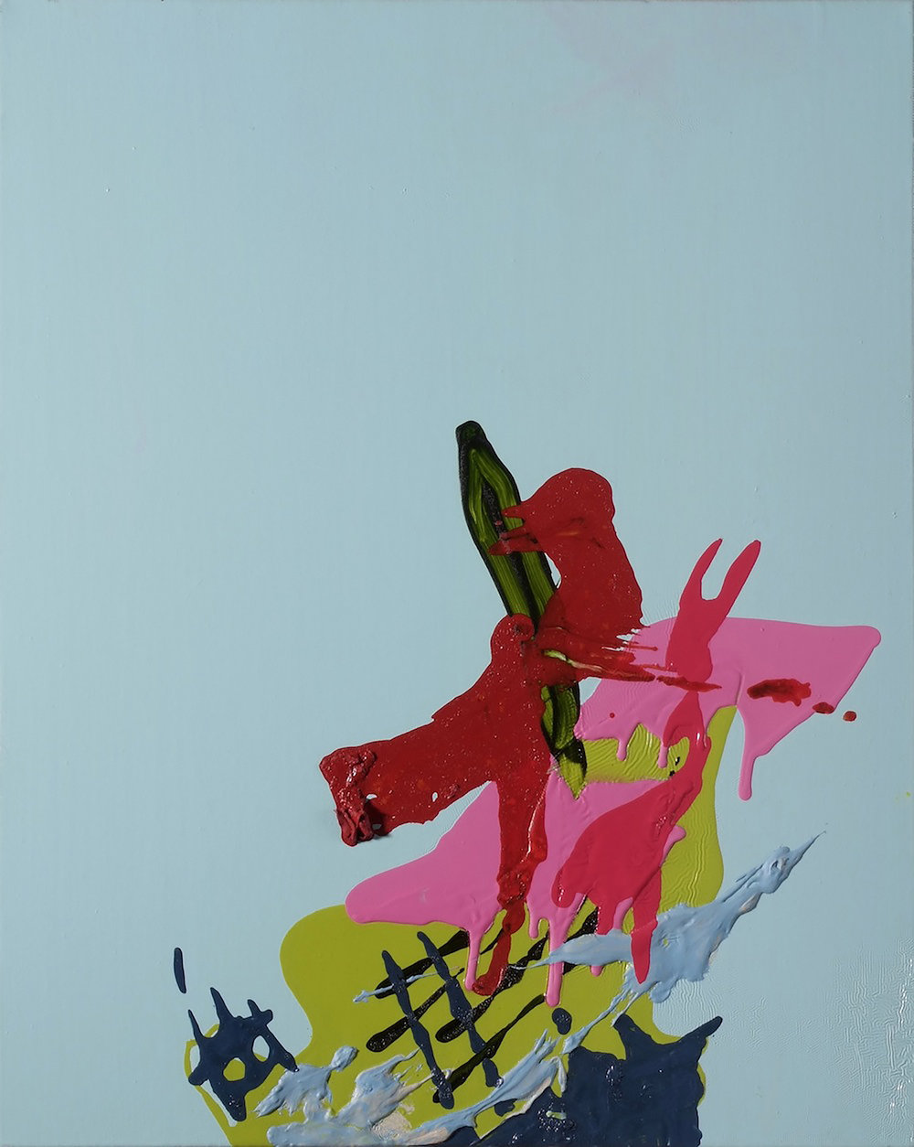 o.T. | 2008 | Öl und Acryl auf Leinwand | 50,5 x 41 cm