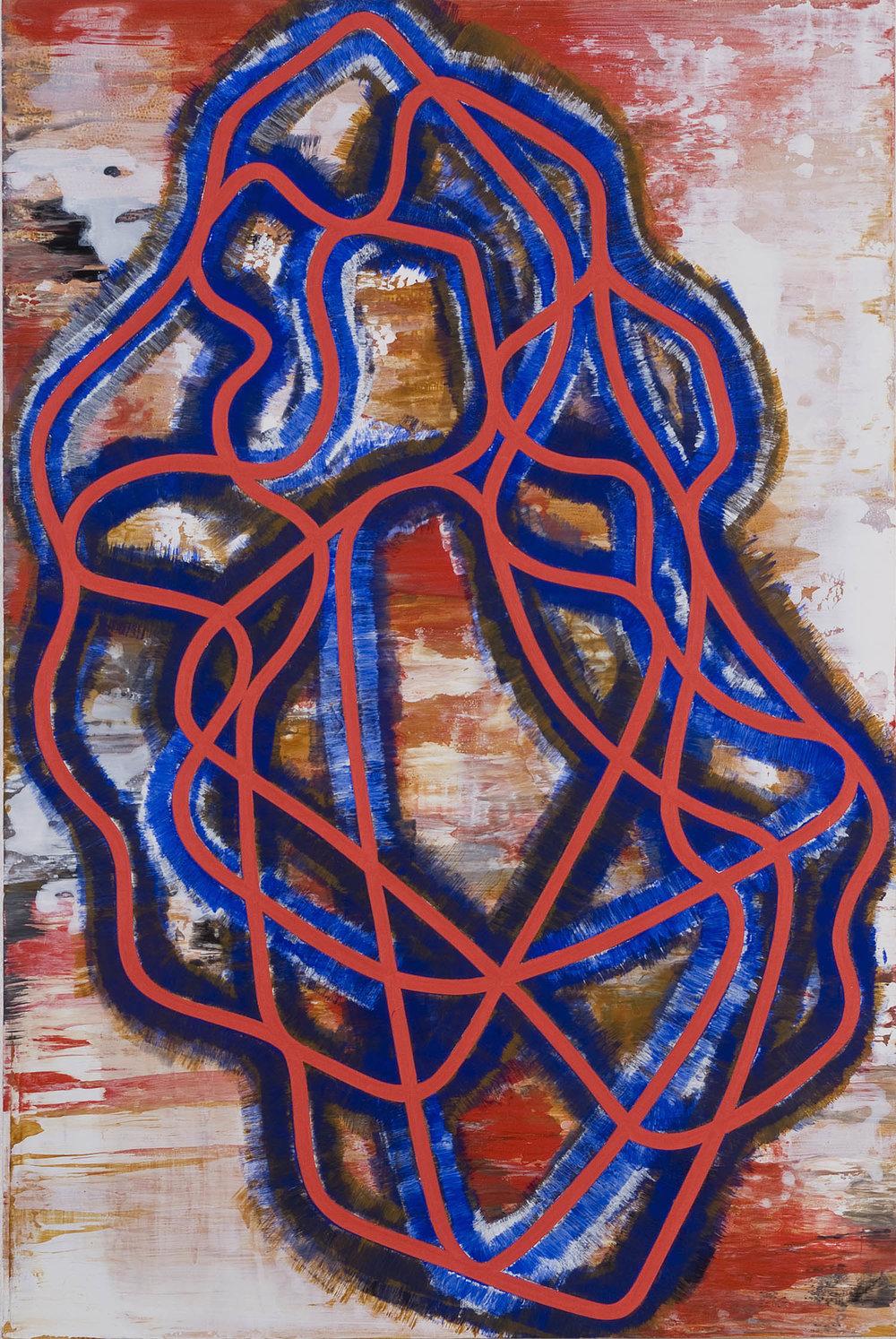 Untitled | 2007 | Öl und Acryl auf Sperrholz | 91,5 x 60 cm