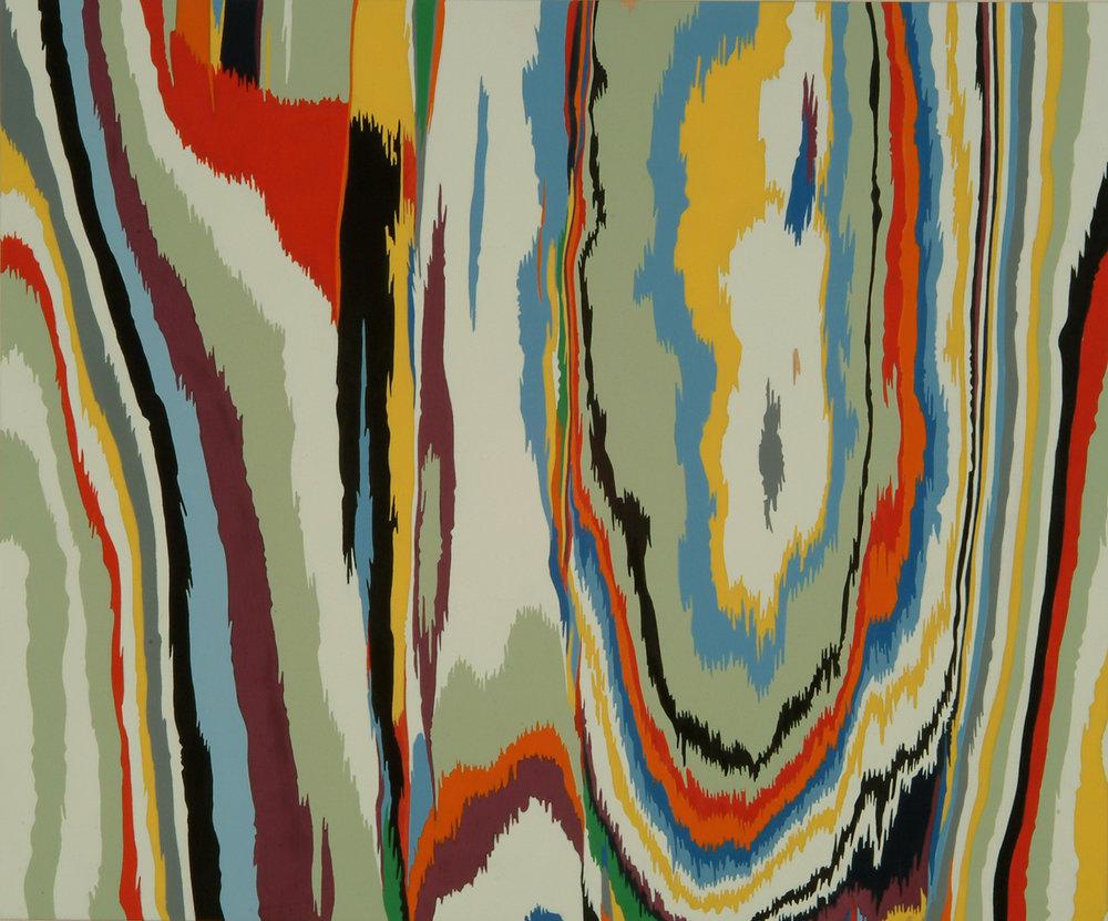 o.T. | 2005 | Lack auf Holz | Öl und Acryl auf MDF | 51 x 61 cm