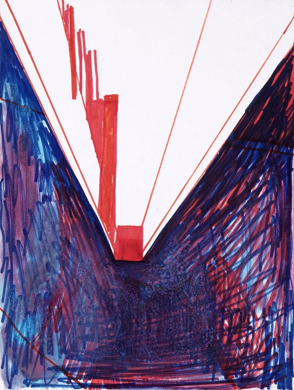 Only You | Acryl, Filzstift und Wasserfarbe auf Papier | 2003 | 30 x 23 cm