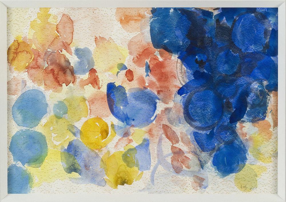 Gelb, Rot, Blau | 1961 | Aquarell auf Papier | 42 x 60 cm
