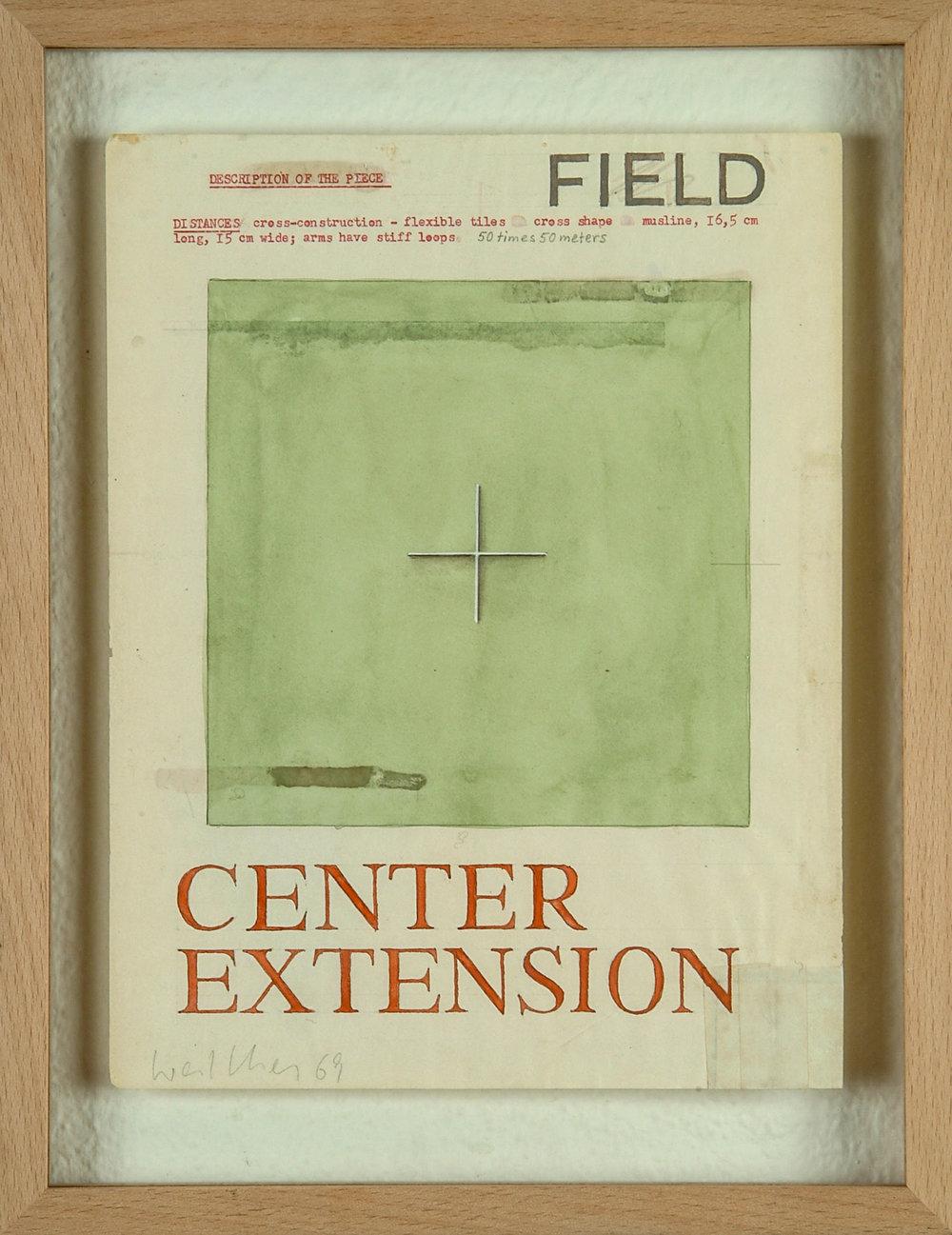 o.T. | 1969 | Bleistift und Wasserfarben auf Papier | 27,5 x 21,5 cm