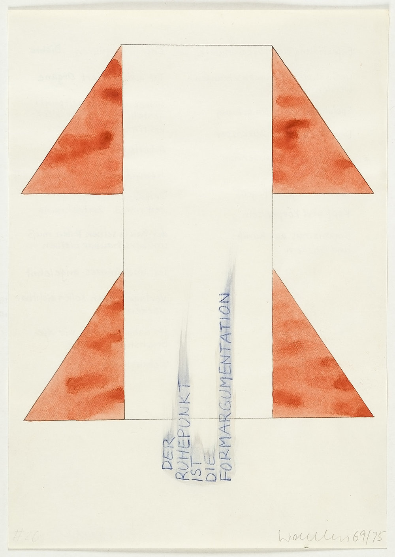 Lebensbild | 1969-75 | Bleistift und Wasserfarben auf Papier | 29,5 x 21 cm