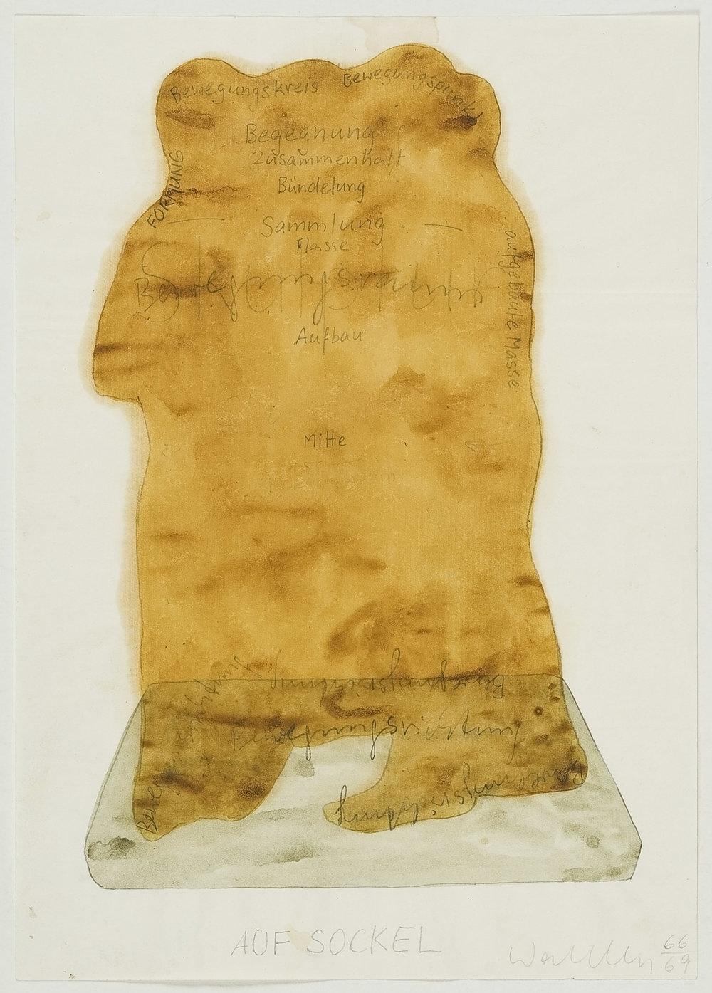 Lebensbild | 1966-69 | Bleistift und Wasserfarben auf Papier | 29,5 x 21 cm