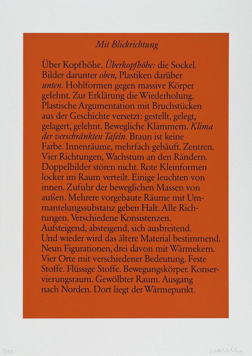 o.T. (Mit Blickrichtung) | 1986 | Lithographie | 60 x 42 cm