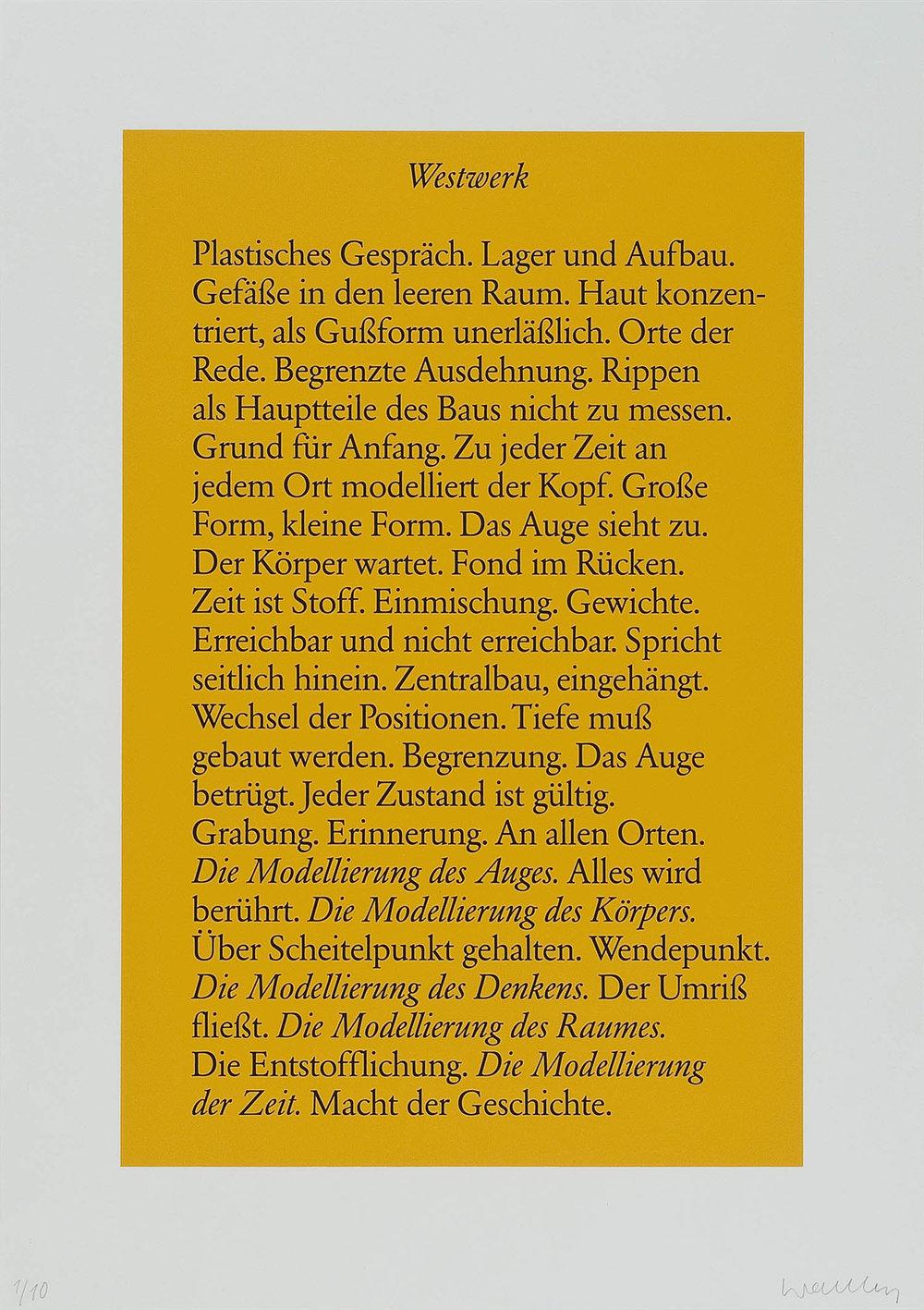 o.T. (Westwerk) | 1986 | Lithographie | 60 x 42 cm