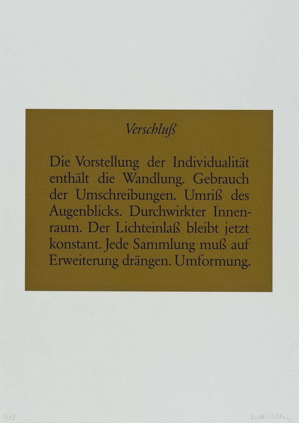 o.T. (Verschuß) | 1986 | Lithographie | 60 x 42 cm