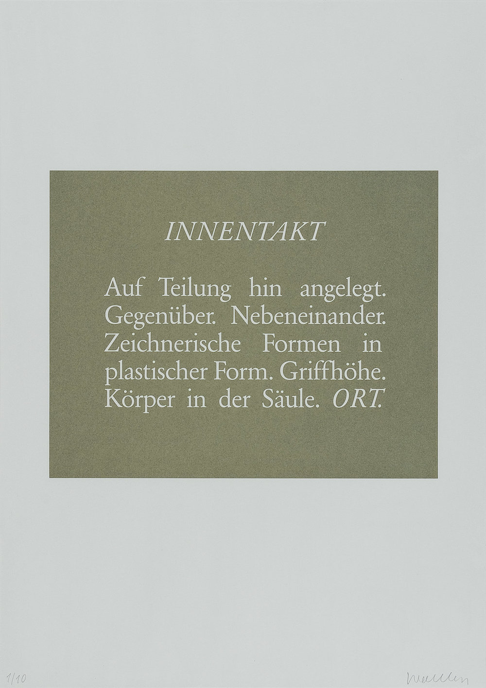 o.T. (Innentakt) | 1986 | Lithographie | 60 x 42 cm