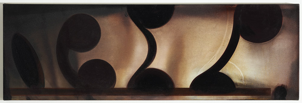 Four of a Shelf | 1990 | Acryl auf Leinwand | 43 x 132 cm