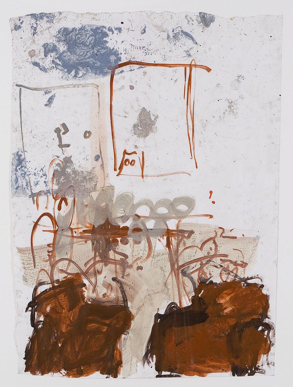 o. T. | 1993 | Acryl (verdünnt) und Filzstift auf Papier | 60 x 43 cm
