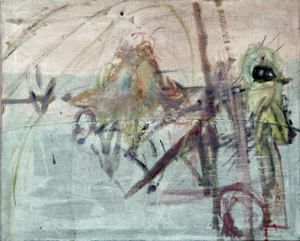 o.T. | 1999 | Öl und Papiercollage auf Leinwand | 107 x 132 cm