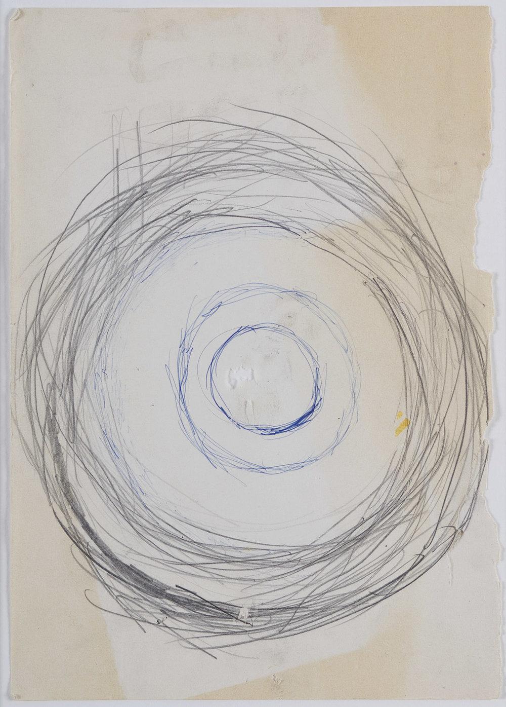 o. T. (Sonne) | 1999-2000 | Bleistift und Kugelschreiber auf Papier | 29,5 x 20,5 cm