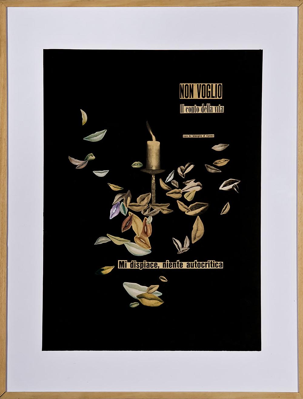 Non voglio il conto della vita | 1963 | Collage | 70 x 50 cm
