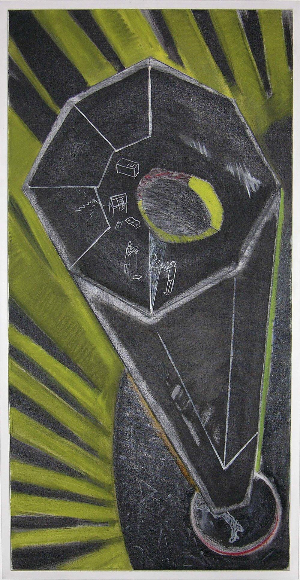 Buero of Vietnam | 1989 | Malerei | 121 x 61 cm